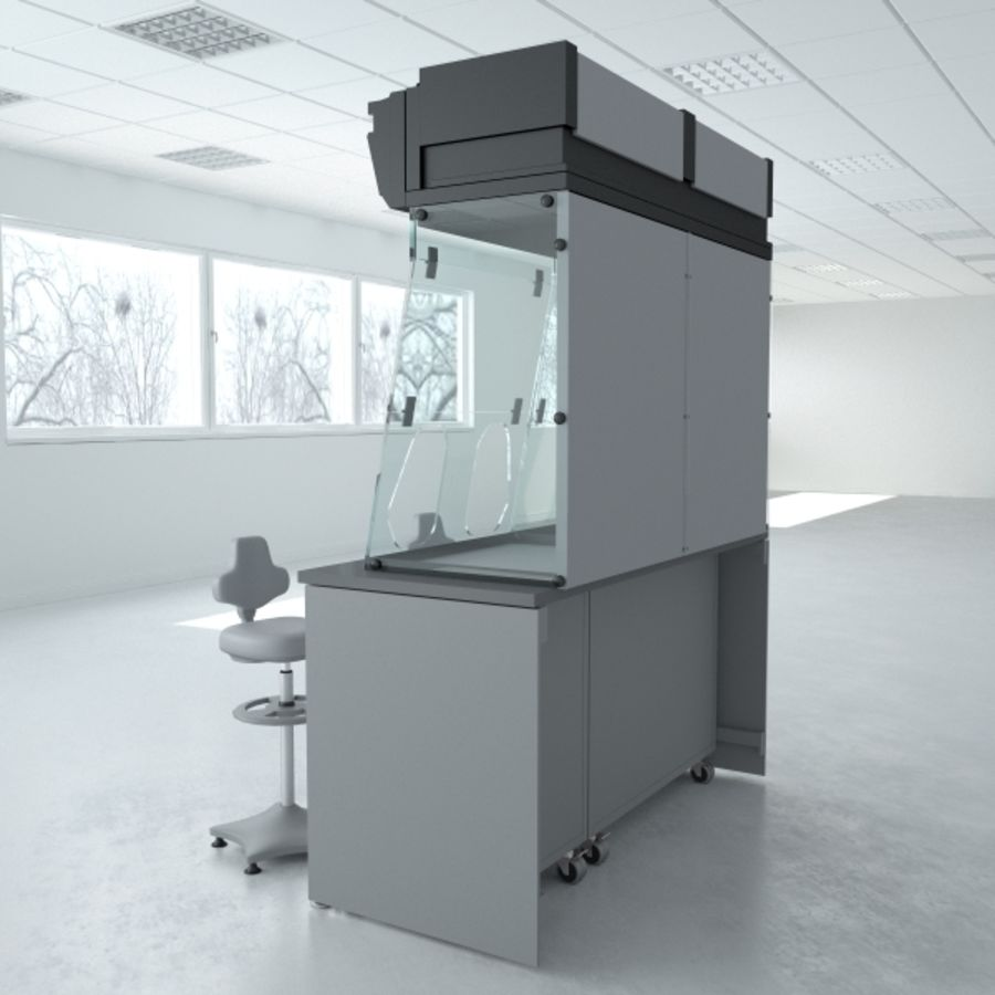 Lab Furniture ( Biosafety Cabinet ) royalty-free 3d model - Preview no. 5
