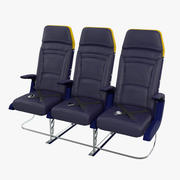 Ryanair Economy Airplane Seat 3d model