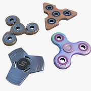 Fidget Hand Spinner Toy Collection 3d model