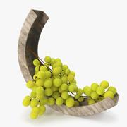 Druvor-grön skål 3d model