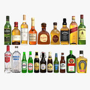 Coleção Liquor 3d model