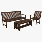 Bench & Table 3d model