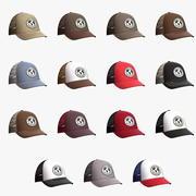 Kolekcja czapek baseballowych 3d model