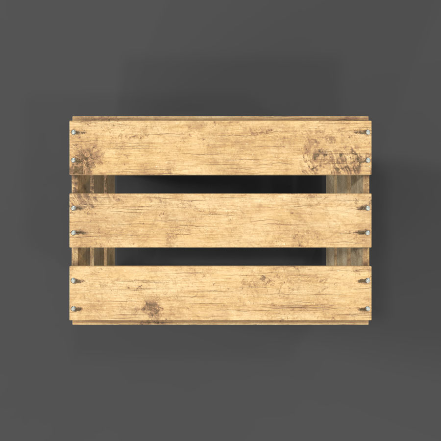 Obstkiste aus Holz royalty-free 3d model - Preview no. 23