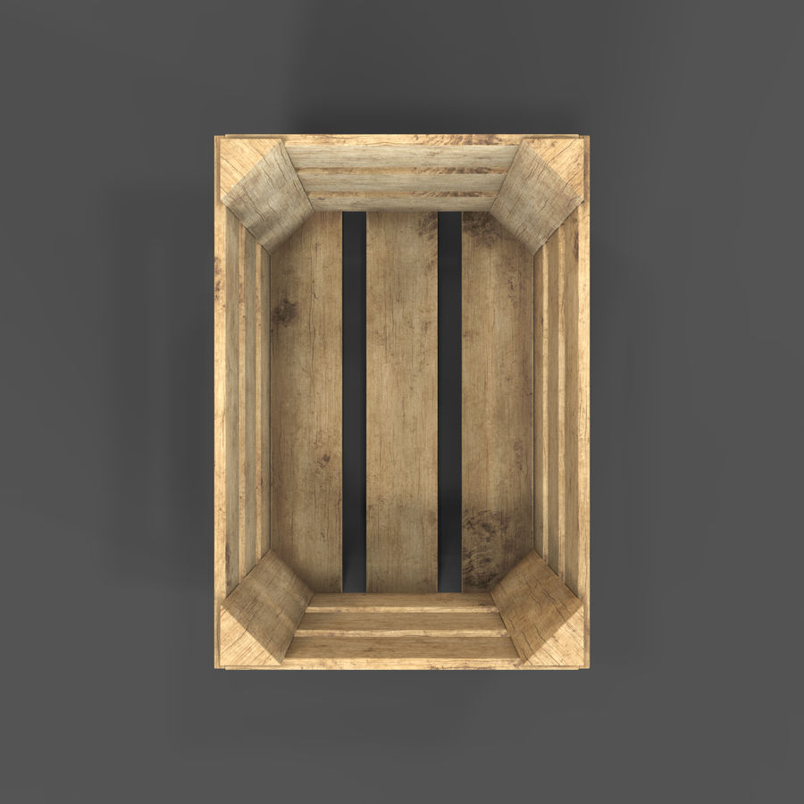 Obstkiste aus Holz royalty-free 3d model - Preview no. 7