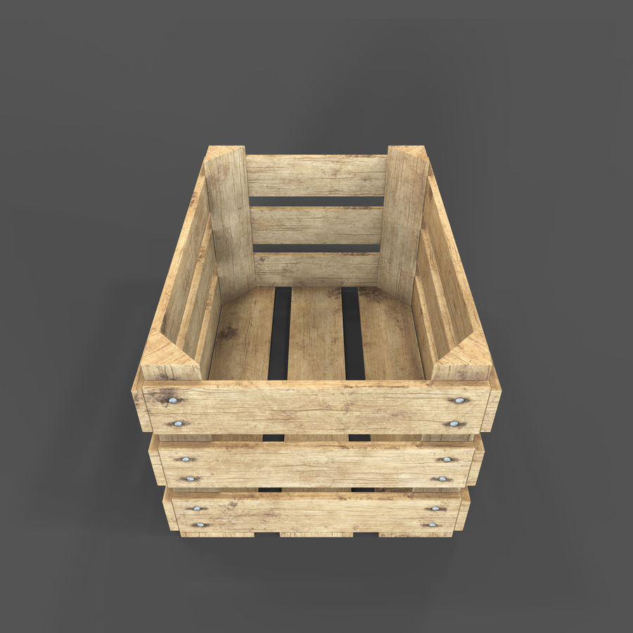 Obstkiste aus Holz royalty-free 3d model - Preview no. 5
