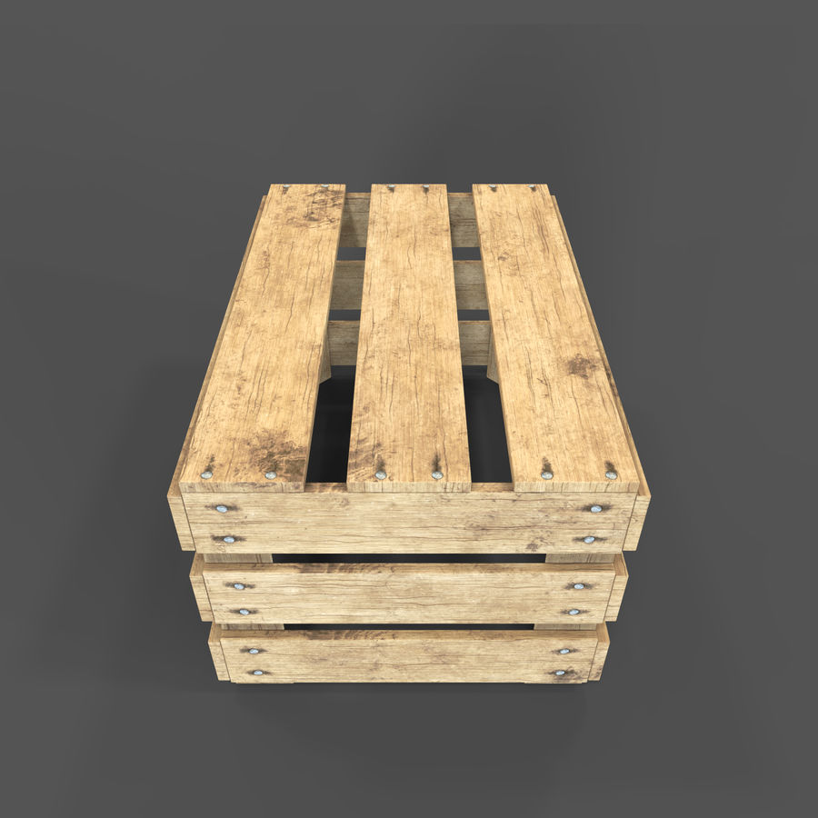 Obstkiste aus Holz royalty-free 3d model - Preview no. 18