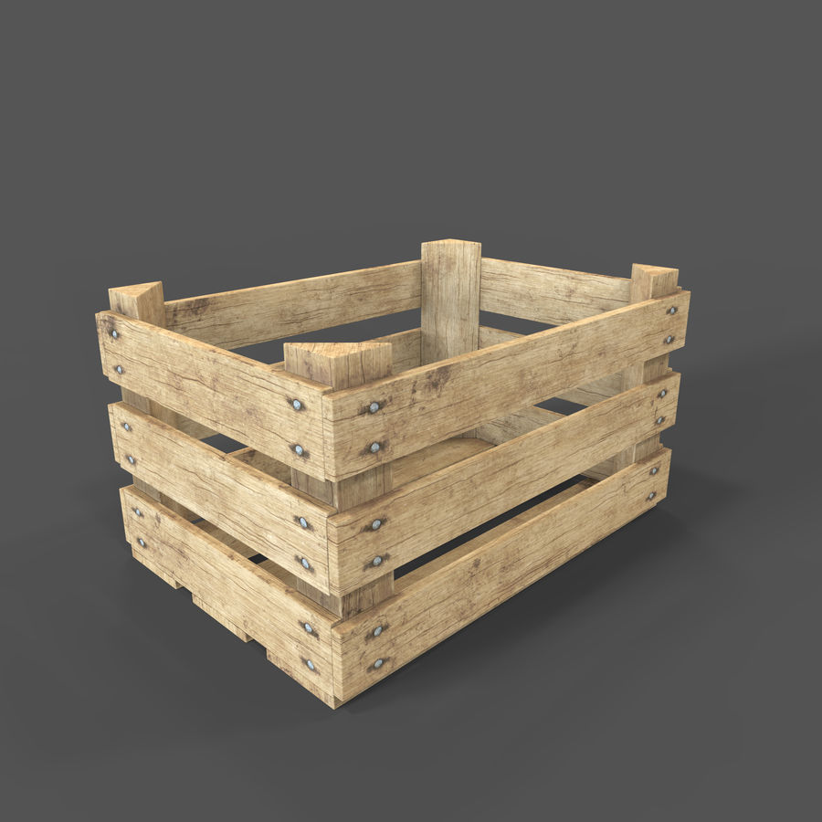 Obstkiste aus Holz royalty-free 3d model - Preview no. 9
