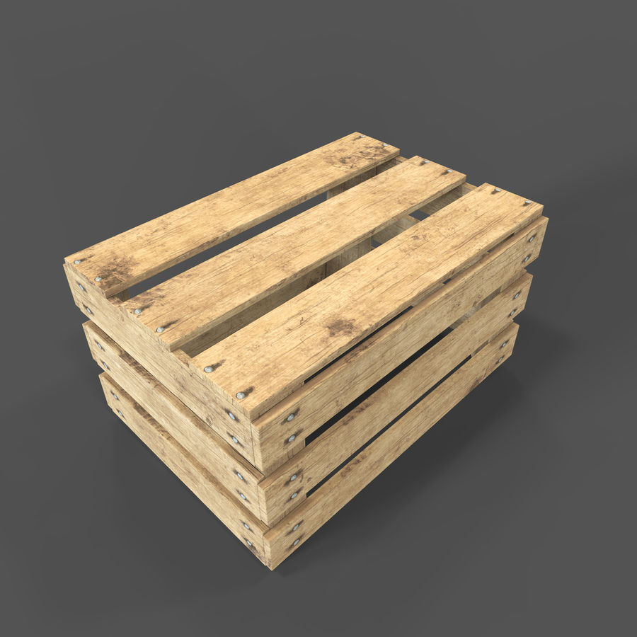 Obstkiste aus Holz royalty-free 3d model - Preview no. 20