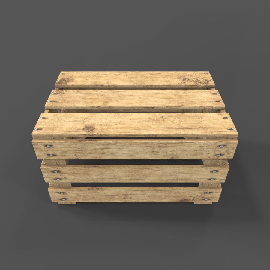 Obstkiste aus Holz royalty-free 3d model - Preview no. 22