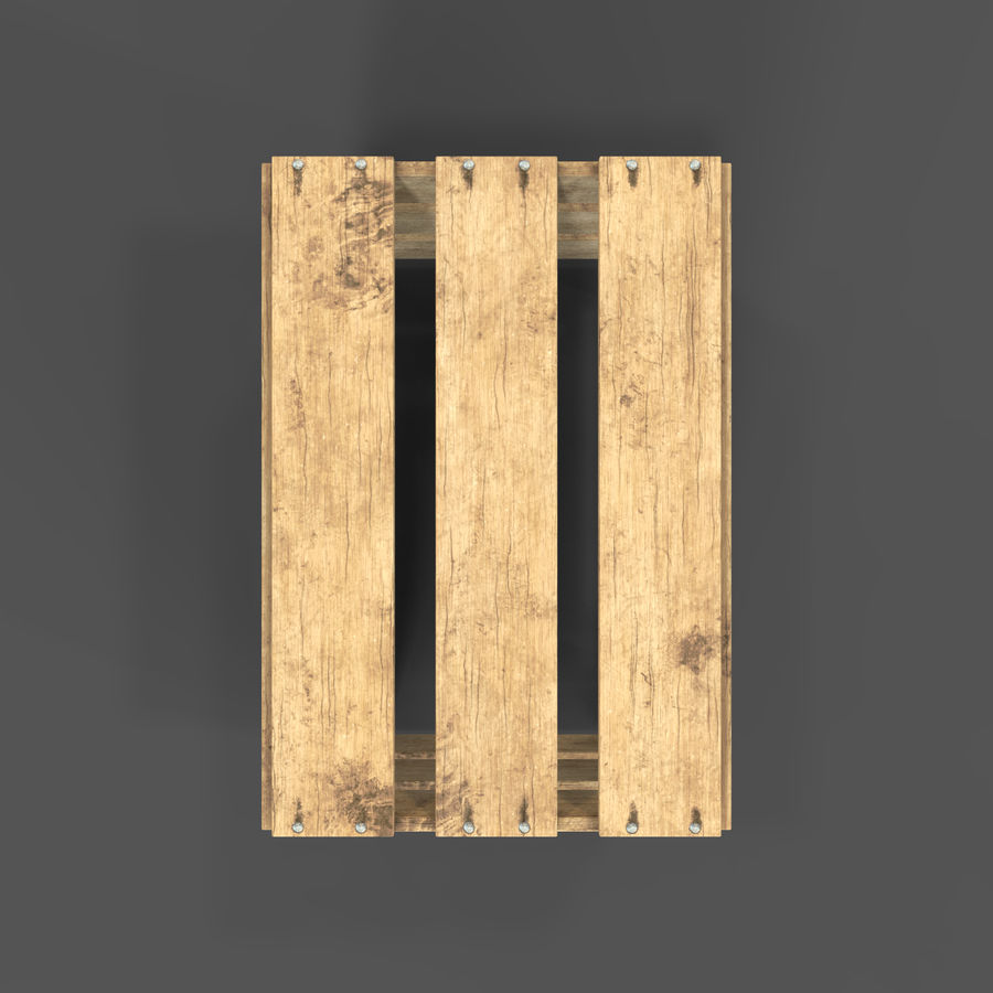 Obstkiste aus Holz royalty-free 3d model - Preview no. 19