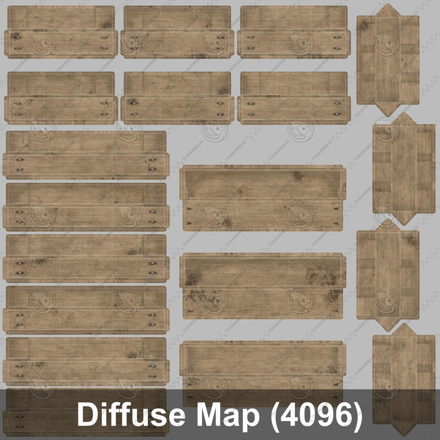 Obstkiste aus Holz royalty-free 3d model - Preview no. 45