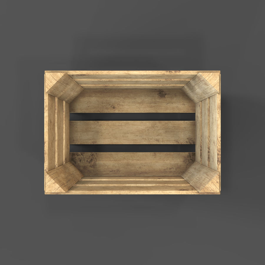 Obstkiste aus Holz royalty-free 3d model - Preview no. 17