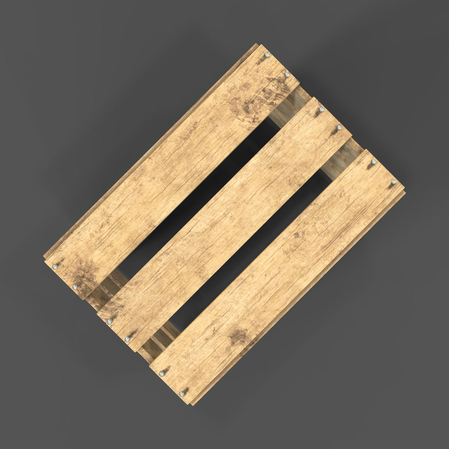Obstkiste aus Holz royalty-free 3d model - Preview no. 21