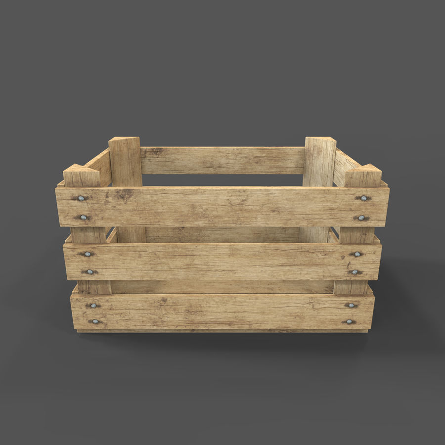 Obstkiste aus Holz royalty-free 3d model - Preview no. 14