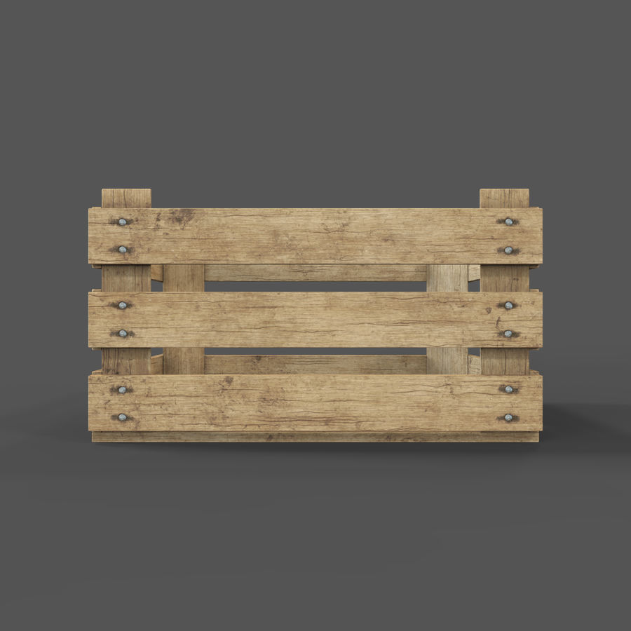 Obstkiste aus Holz royalty-free 3d model - Preview no. 13