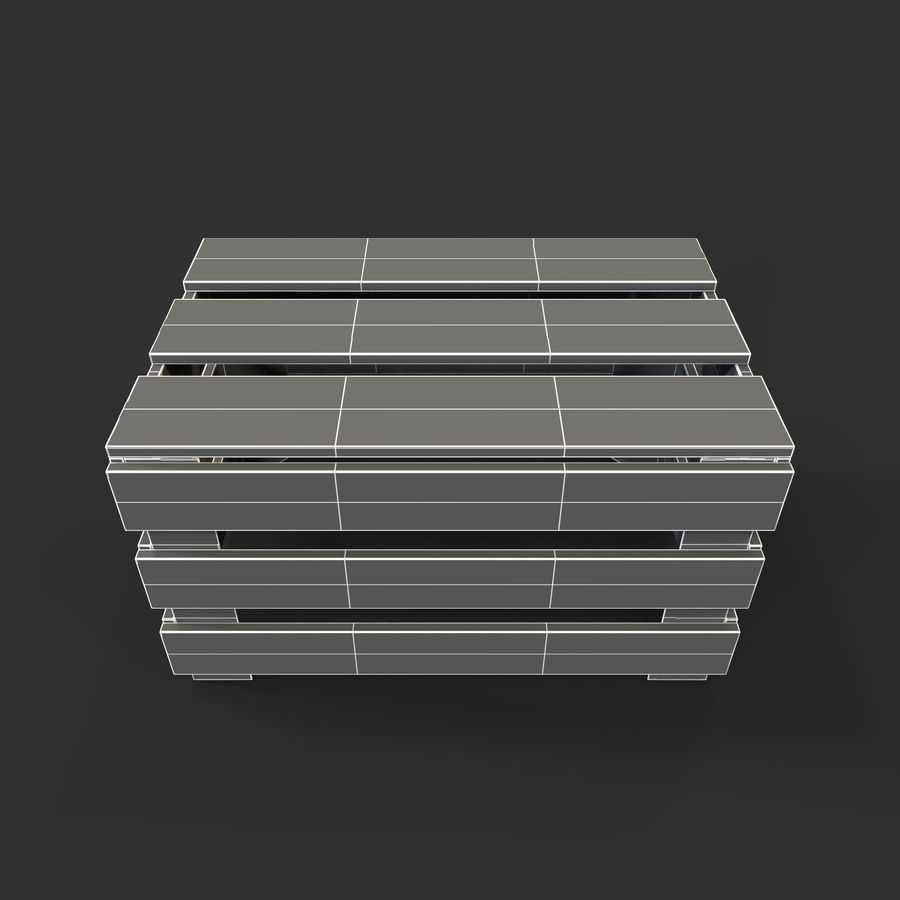 Obstkiste aus Holz royalty-free 3d model - Preview no. 43