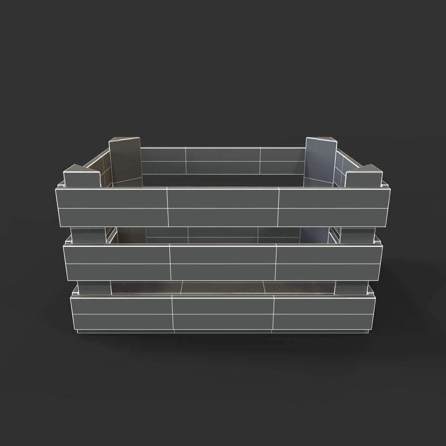 Obstkiste aus Holz royalty-free 3d model - Preview no. 35