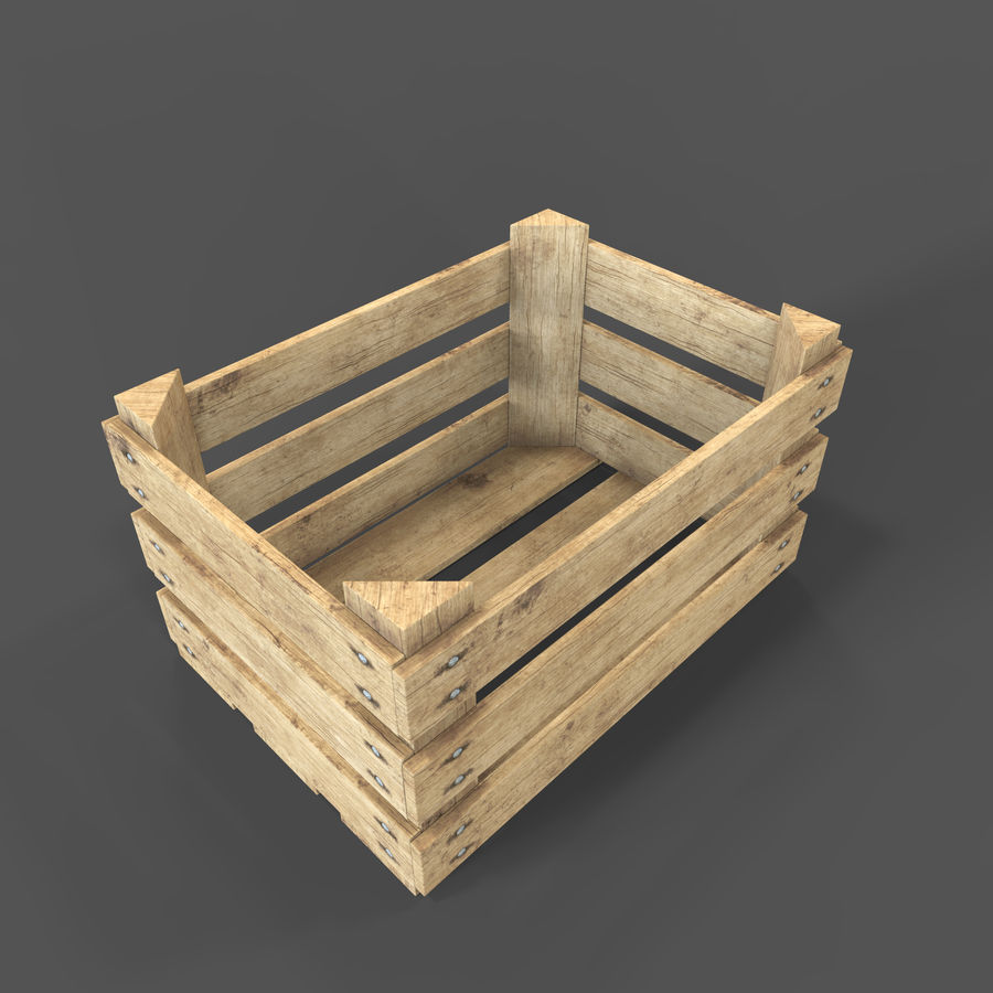 Obstkiste aus Holz royalty-free 3d model - Preview no. 10