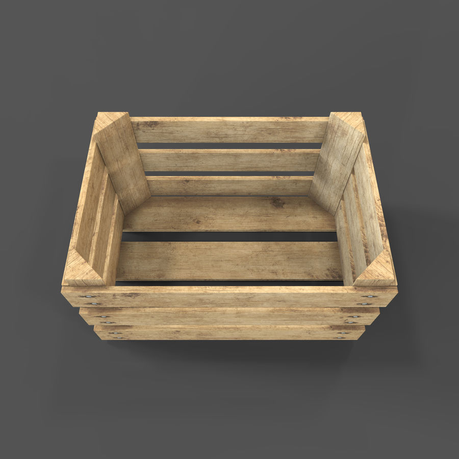 Obstkiste aus Holz royalty-free 3d model - Preview no. 16