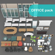 Office-items 3d model