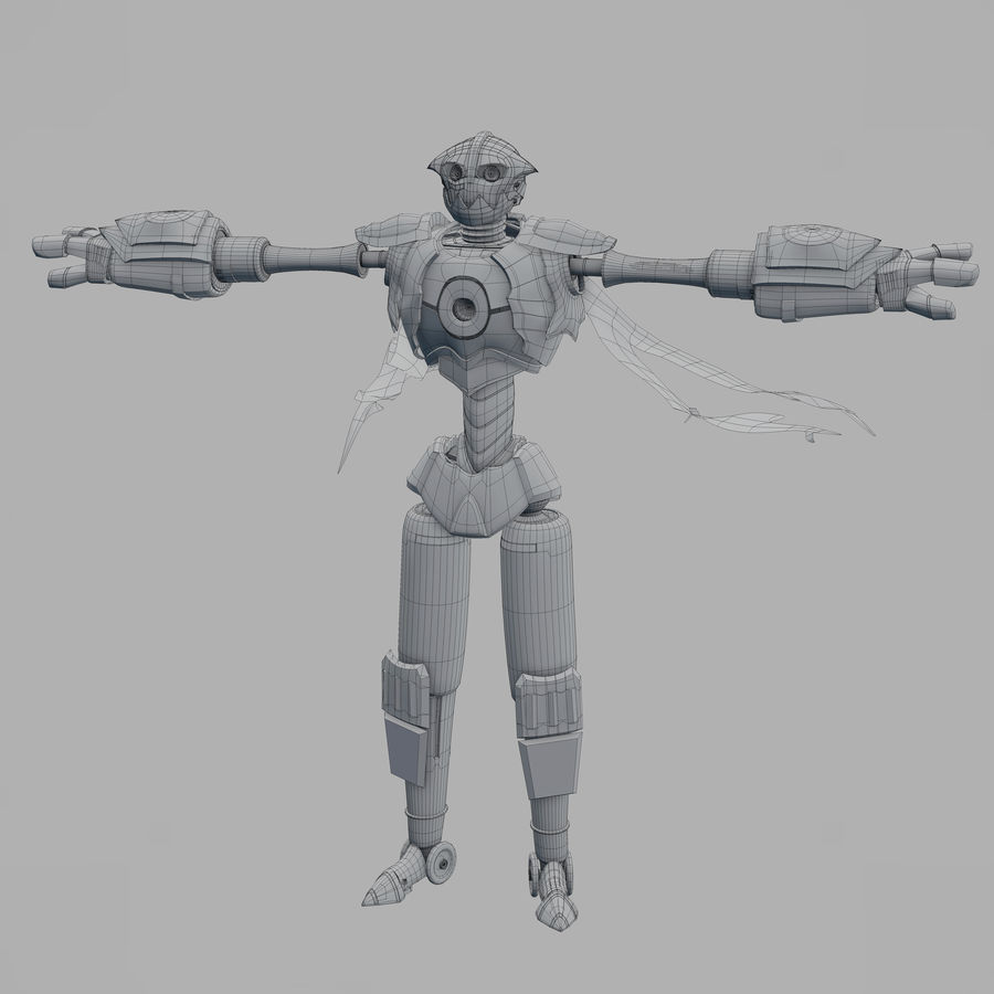 Postać z robota royalty-free 3d model - Preview no. 5