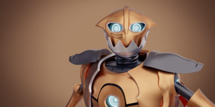 Postać z robota royalty-free 3d model - Preview no. 4