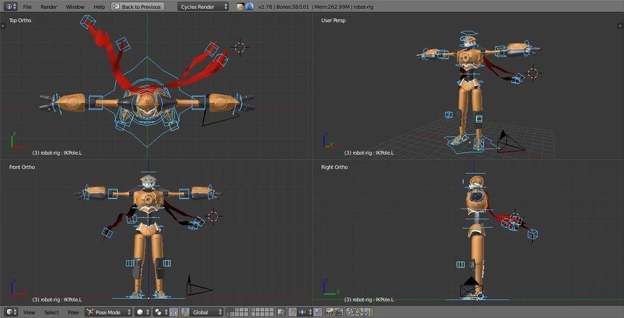 Postać z robota royalty-free 3d model - Preview no. 9
