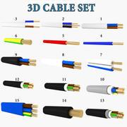 Jeu de câbles 3d model