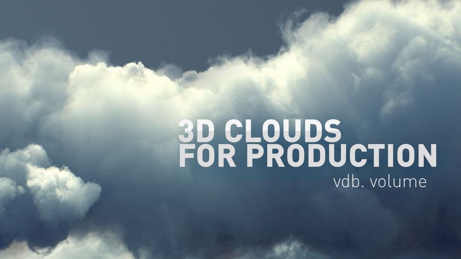 Des nuages royalty-free 3d model - Preview no. 1