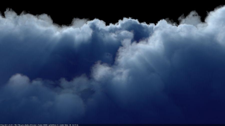 Des nuages royalty-free 3d model - Preview no. 7