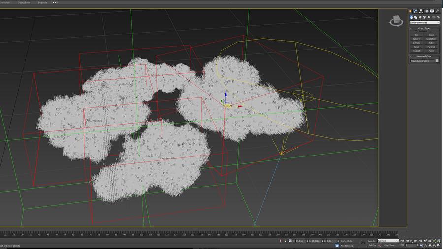 Des nuages royalty-free 3d model - Preview no. 3