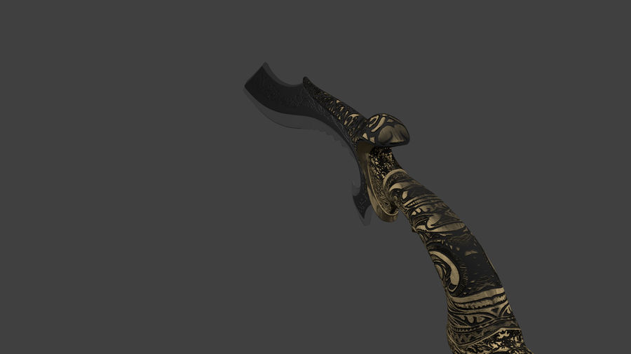 Nyx Ulric Kukri 1 royalty-free modelo 3d - Preview no. 5