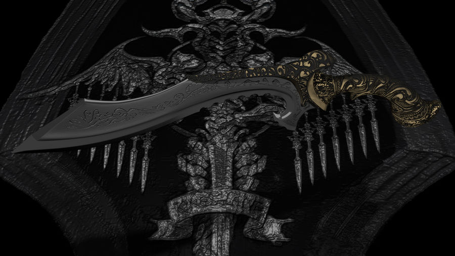 Nyx Ulric Kukri 1 royalty-free 3d model - Preview no. 1