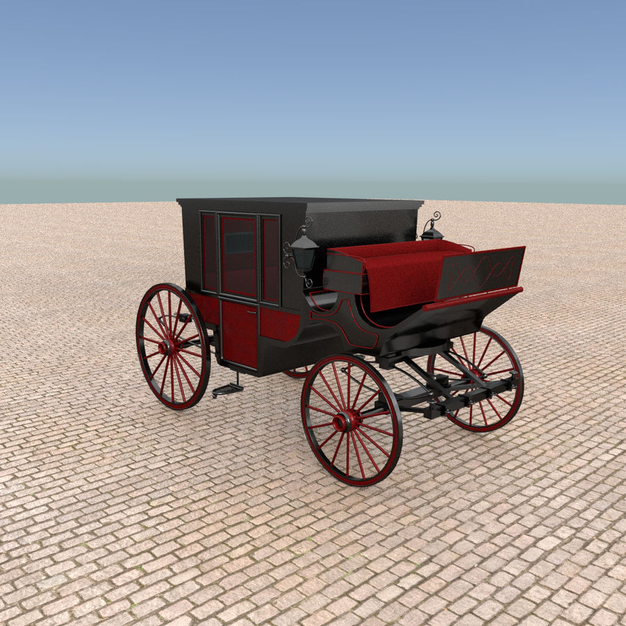 Carrozza royalty-free 3d model - Preview no. 7