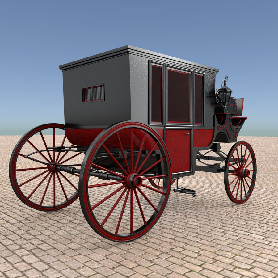 Carrozza royalty-free 3d model - Preview no. 4