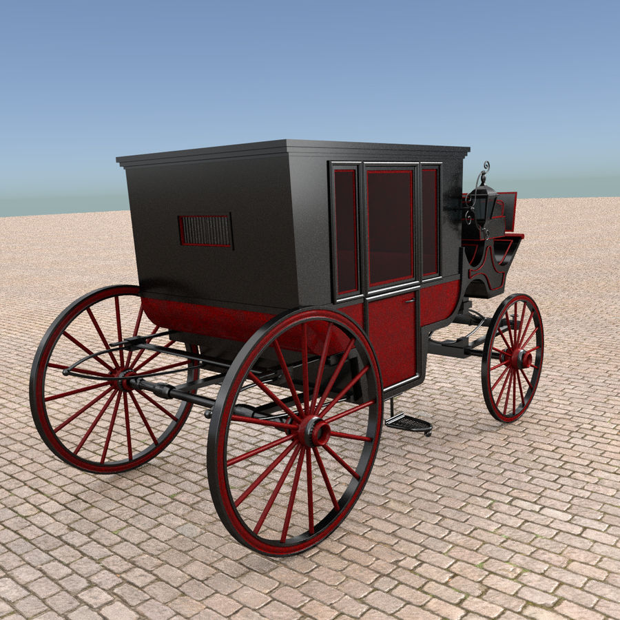 Carrozza royalty-free 3d model - Preview no. 12