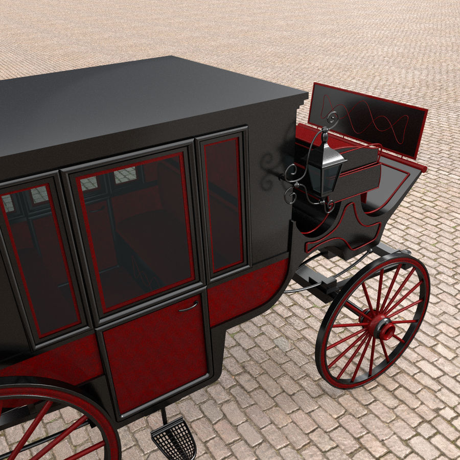 Carrozza royalty-free 3d model - Preview no. 9