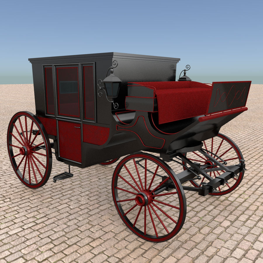 Carrozza royalty-free 3d model - Preview no. 5