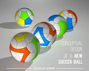 Концептуальный дизайн нового футбольного мяча 3d model