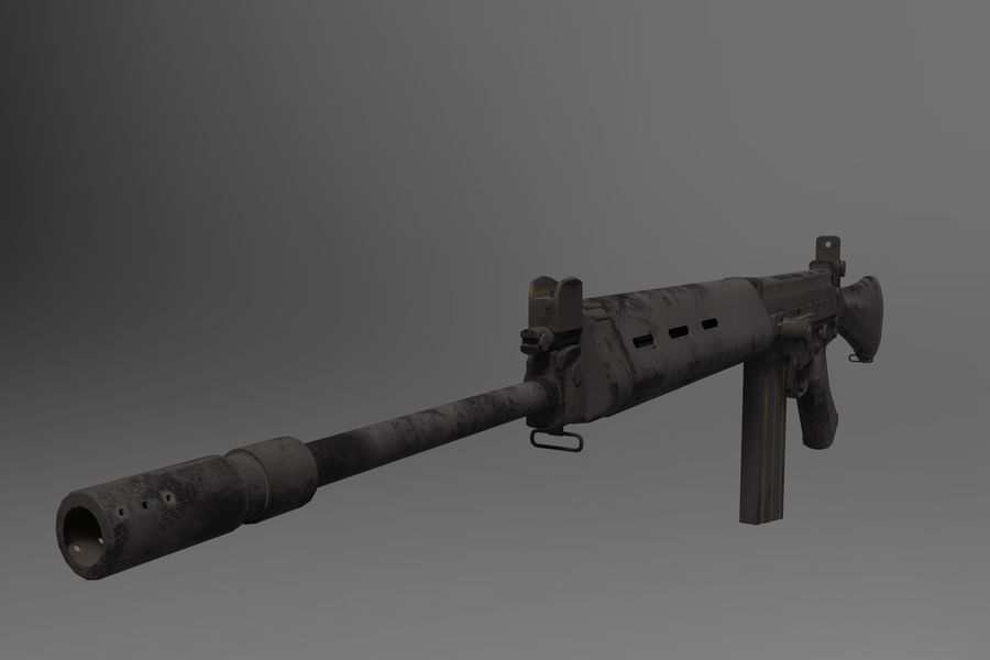 FN FALパック royalty-free 3d model - Preview no. 5