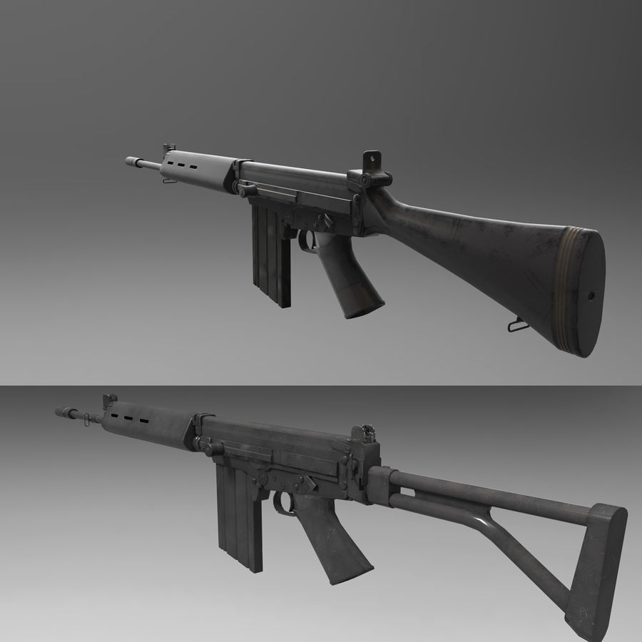 FN FALパック royalty-free 3d model - Preview no. 1