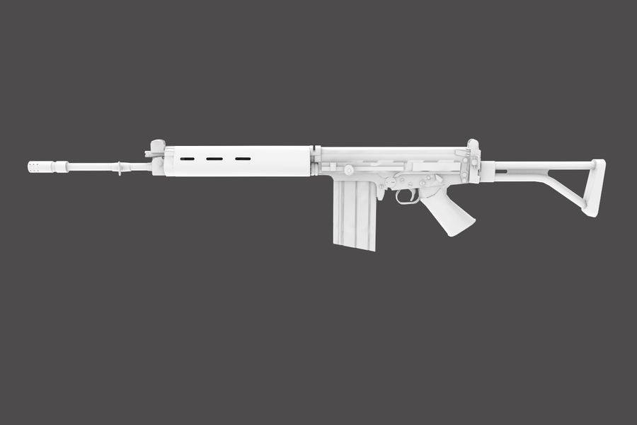 FN FALパック royalty-free 3d model - Preview no. 31
