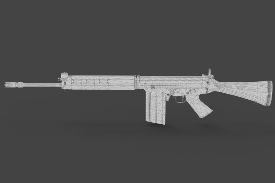 FN FALパック royalty-free 3d model - Preview no. 16