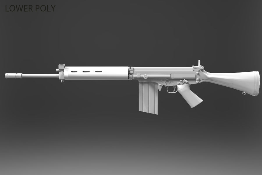 FN FALパック royalty-free 3d model - Preview no. 37