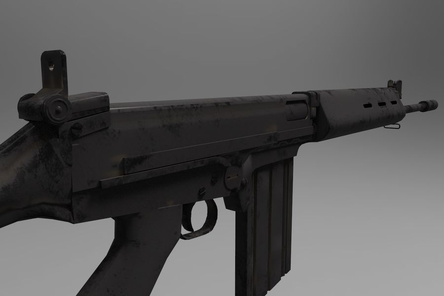 FN FALパック royalty-free 3d model - Preview no. 8