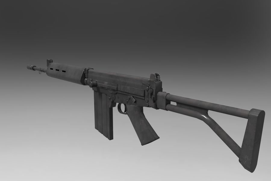 FN FALパック royalty-free 3d model - Preview no. 18
