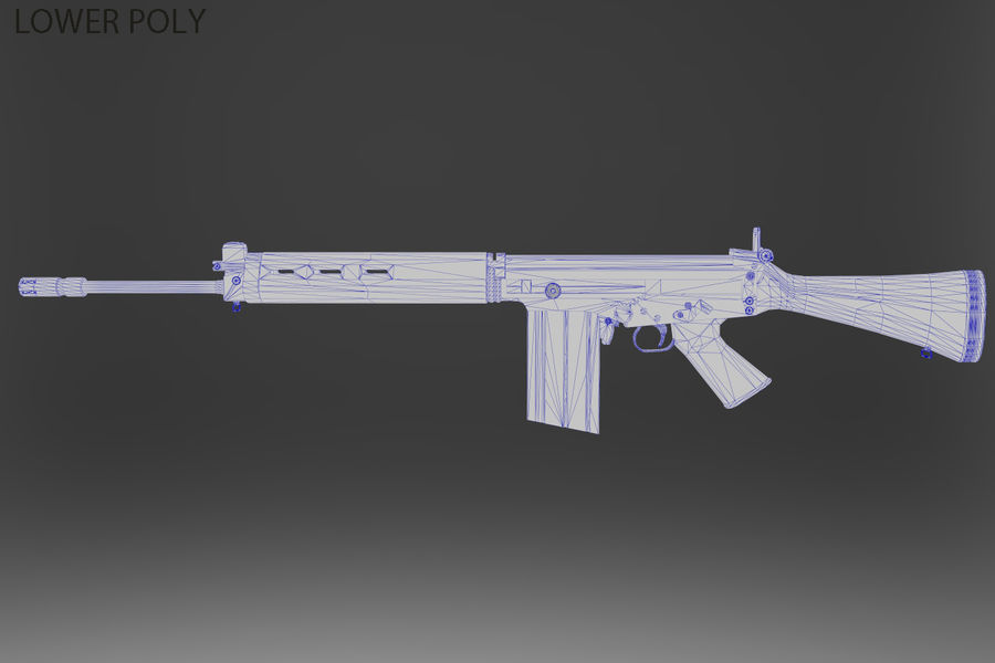 FN FALパック royalty-free 3d model - Preview no. 39
