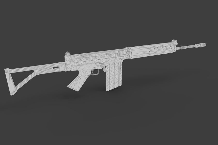 FN FALパック royalty-free 3d model - Preview no. 26