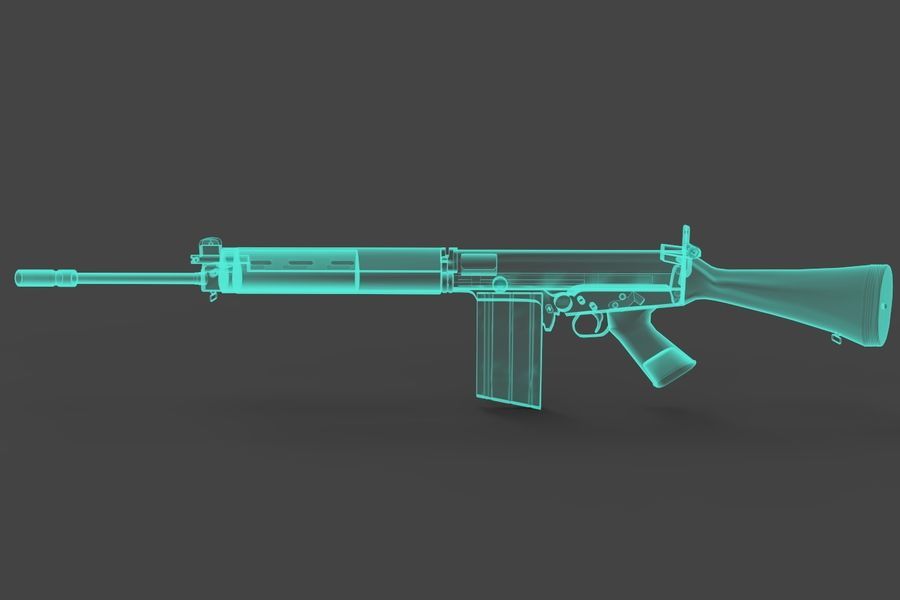 FN FALパック royalty-free 3d model - Preview no. 15